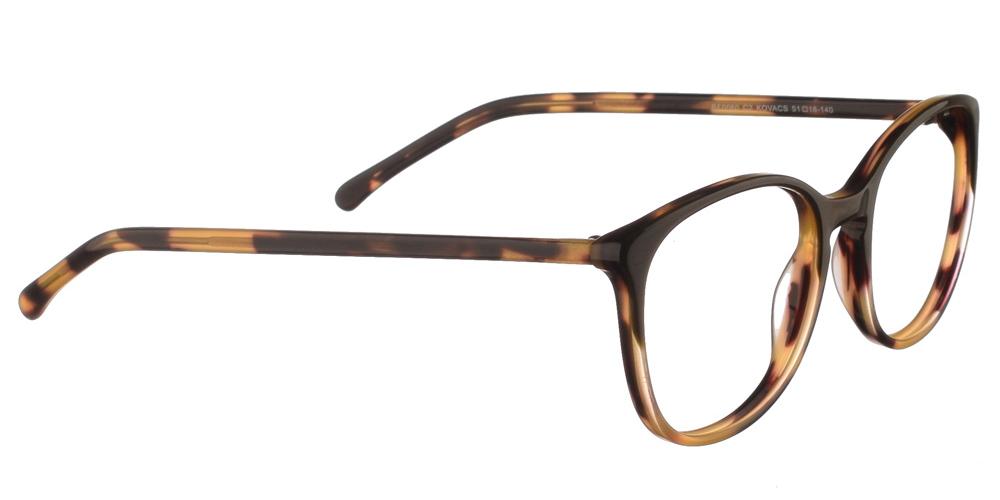 Γυναικεία κοκάλινα γυαλιά οράσεως Brixton Kovacs BF0060 C2 με καφέ ταρταρούγα σκελετόγια μεσαία και μεγάλα πρόσωπα.