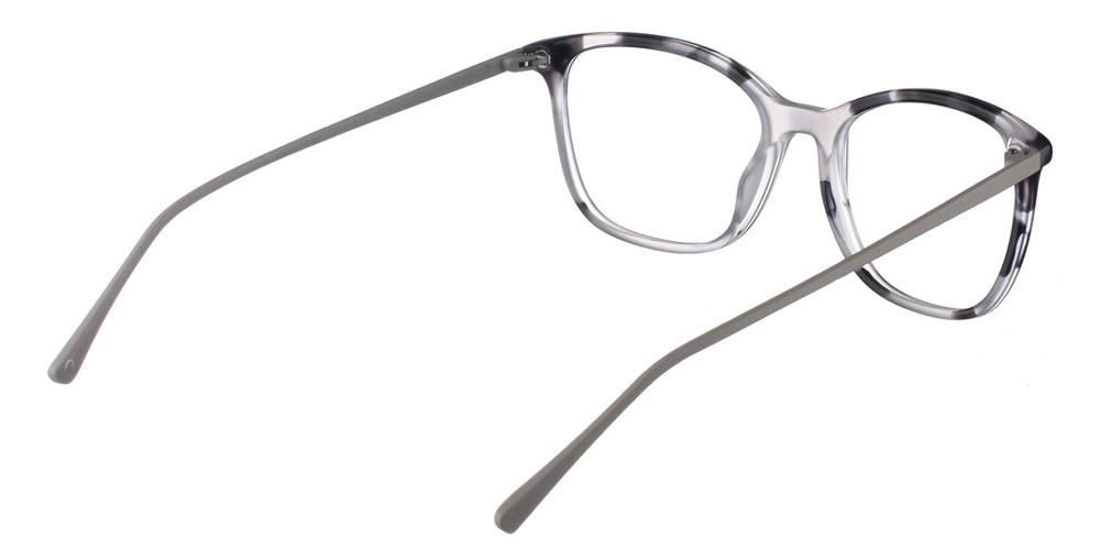 Γυναικεία κοκάλινα γυαλιά οράσεως Brixton Regents BF0104 C3 με ασπρόμαυρο σκελετό και μεταλλικούς βραχίονεςγια όλα τα πρόσωπα.