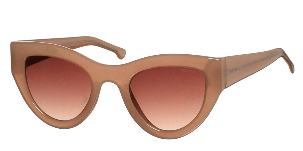 Κοκάλινα γυναικεία γυαλιά ηλίου πεταλούδα Komono Phoenix Sahara σε μπεζ χρώμα και καφέ ντεγκραντέ φακούςγια μικρά και μεσαία πρόσωπα.