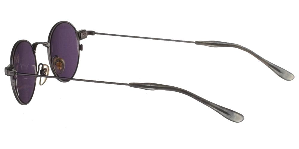 Μεταλλικά ανδρικά και γυναικεία γυαλιά ηλίου Original Vintage 824 Gunmetal σε ασημί σκελετό και σκούρους γκρι μπλε φακούςγια όλα τα πρόσωπα.