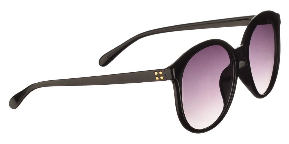 Κλασικά γυναικεία κοκάλινα γυαλιά ηλίου Armed Robbery Goldy Black σε μαύρο χρώμα και γκρι ντεγκραντέ φακούςγια μεσαία και μεγάλα πρόσωπα.