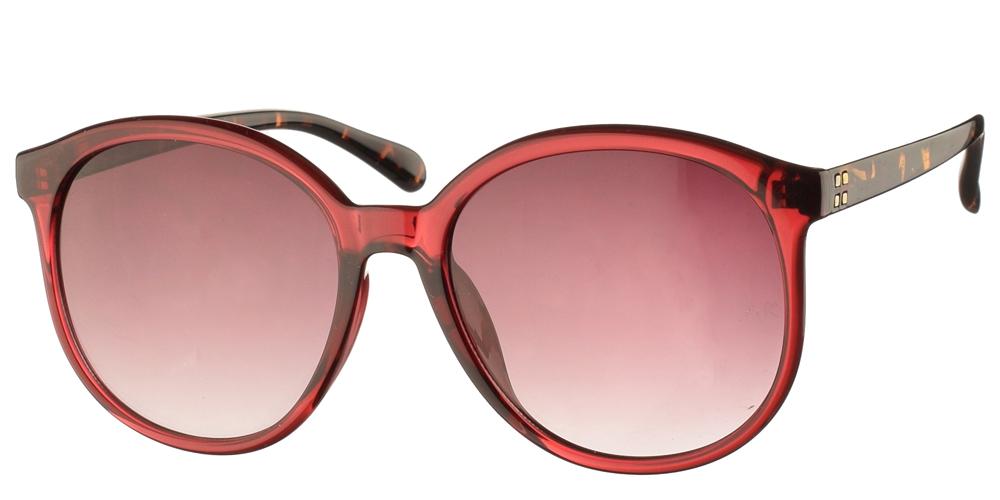 Κλασικά γυναικεία κοκάλινα γυαλιά ηλίου Armed Robbery Goldy Burgundy σε κόκκινο χρώμα και καφέ ντεγκραντέ φακούςγια μεσαία και μεγάλα πρόσωπα.