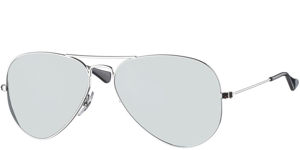 Διαχρονικά aviator ανδρικά και γυναικεία γυαλιά ηλίου RB3025 003 40 3N σε ασημί μεταλλικό σκελετό και ασημί κρυστάλλους της εταιρίας Ray Banγια μεσαία και μεγάλα πρόσωπα.