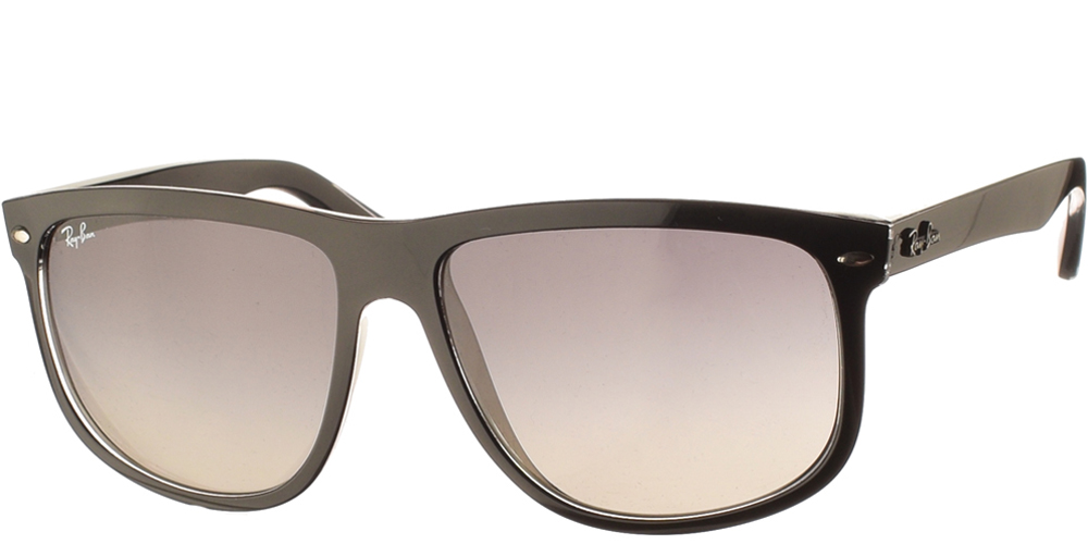 Τετράγωνα κοκάλινα κλασικά ανδρικά γυαλιά ηλίου Ray Ban RB4147 6039/71 σε μαύρο χρώμα και γκρι ντεγκραντέ φακούςγια μεσαία και μεγάλα πρόσωπα.