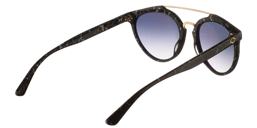 Χειροποίητα κοκάλινα ανδρικά και γυναικεία γυαλιά ηλίου Charlie Max Moscova 03N32 με εφέ μαρμάρου και απαλούς ασημί καθρέφτεςγια όλα τα πρόσωπα.