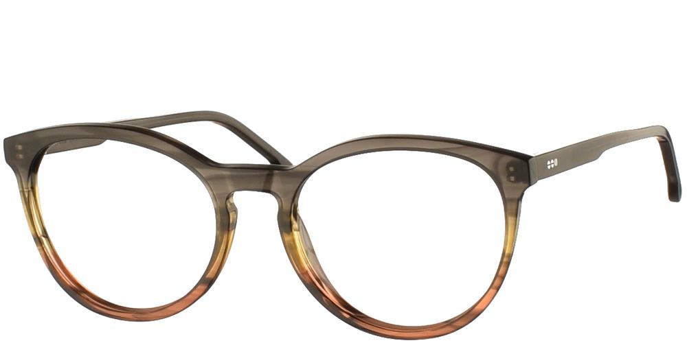 Γυναικεία κοκάλινα γυαλιά οράσεως Komono Althea Canyon σε γκρι και κεραμιδί ντεγκραντέ σκελετόγια όλα τα πρόσωπα.