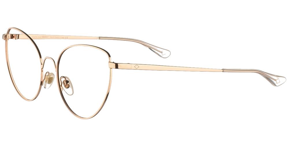 Γυναικεία μεταλλικά γυαλιά οράσεως σε σχήμα πεταλούδα Charlie Max Certosa GR σε χρυσό χρώμα για μεσαία και μεγάλα πρόσωπα.
