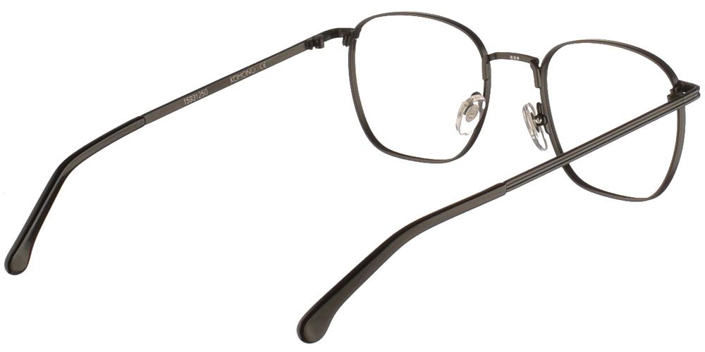 Μεταλλικά τετράγωνα ανδρικά και γυναικεία γυαλιά οράσεως Komono Dexter Black σε μαύρο σκελετόγια όλα τα πρόσωπα.