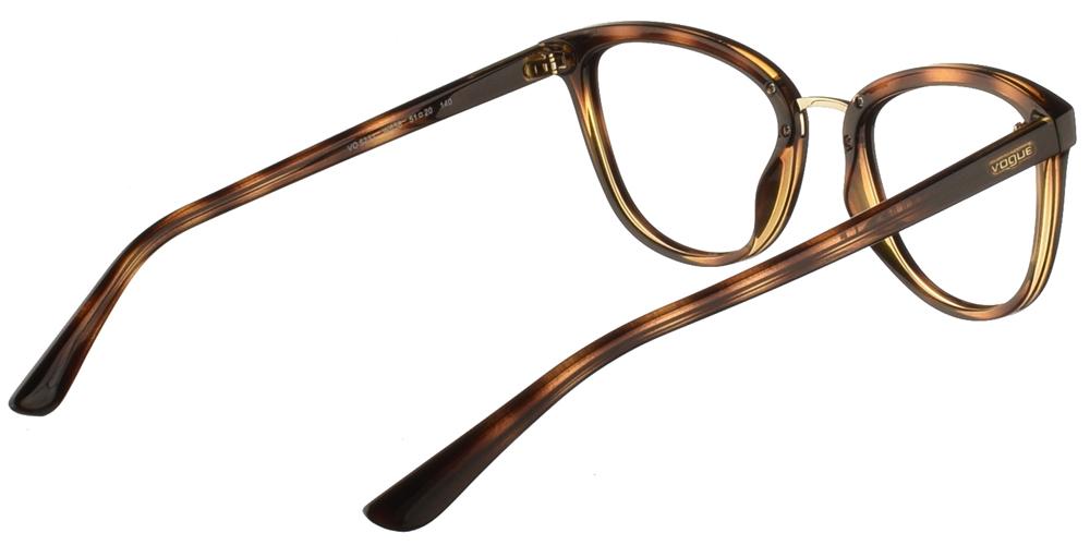 Γυναικεία κοκάλινα γυαλιά οράσεως πεταλούδα Vogue VO 5231 W656 σε καφέ ταρταρούγα με χρυσές μεταλλικές λεπτομέρειεςγια όλα τα πρόσωπα.