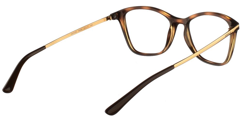 Γυναικεία κοκάλινα γυαλιά οράσεωςπεταλούδα Vogue VO 5152 W656 σε καφέ ταρταρούγα με χρυσούς μεταλλικούς βραχίονεςγια μεσαία και μεγάλα πρόσωπα.