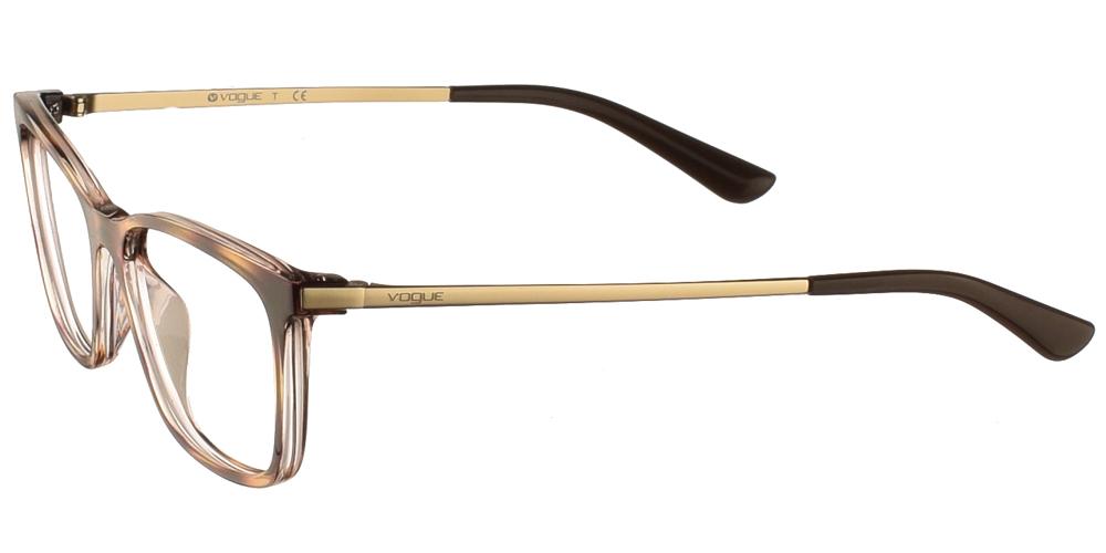 Γυναικεία κοκάλινα γυαλιά οράσεως σε σχήμα πεταλούδας Vogue VO 5224 1916 σε καφέ ταρταρούγα με χρυσούς ματ μεταλλικούς βραχίονεςγια μεσαία και μεγάλα πρόσωπα.