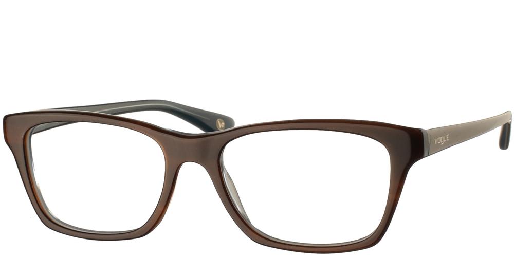 Γυναικεία κοκάλινα γυαλιά οράσεως σε σχήμα πεταλούδας Vogue VO 2714 2014 σε καφέ σκελετό με γαλάζιες λεπτομέρειεςγια μικρά και μεσαία πρόσωπα.