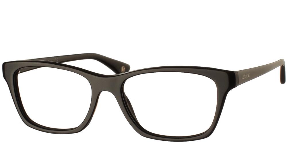 Γυναικεία κοκάλινα γυαλιά οράσεως σε σχήμα πεταλούδας Vogue VO 2714 W44 σε μαύρο σκελετόγια μικρά και μεσαία πρόσωπα.