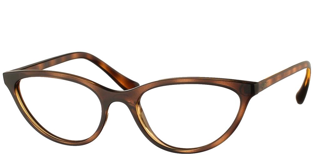 Γυναικεία κοκάλινα γυαλιά οράσεως πεταλούδα Vogue VO 5213 W656 σε καφέ ταρταρούγαγια μικρά και μεσαία πρόσωπα.