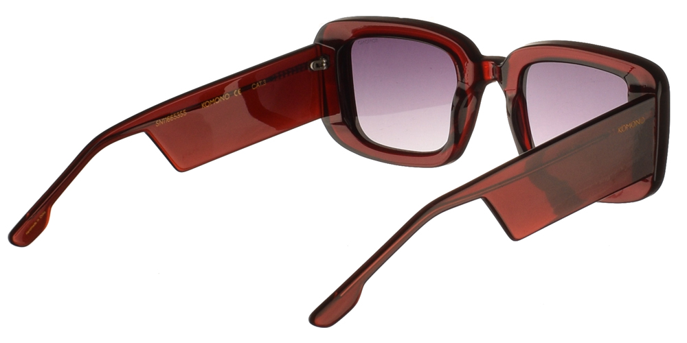 Γυαλιά ηλίου komono avery burgundy sunglasses