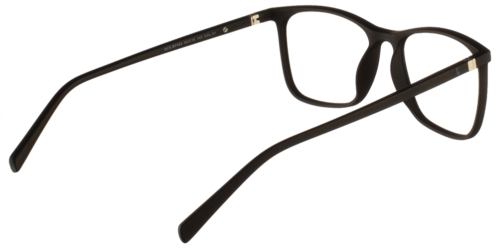Τετράγωνα κοκάλινα ανδρικά και γυναικεία γυαλιά οράσεως Brixton SCS.BF085 01 με μαύρο ματ σκελετό τηςγια όλα τα πρόσωπα.