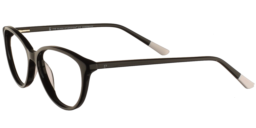 Γυναικεία κοκάλινα σε σχήμα πεταλούδα γυαλιά οράσεως Brixton Buba Str BF0122 C1 με μαύρο σκελετόγια μικρά και μεσαία πρόσωπα.