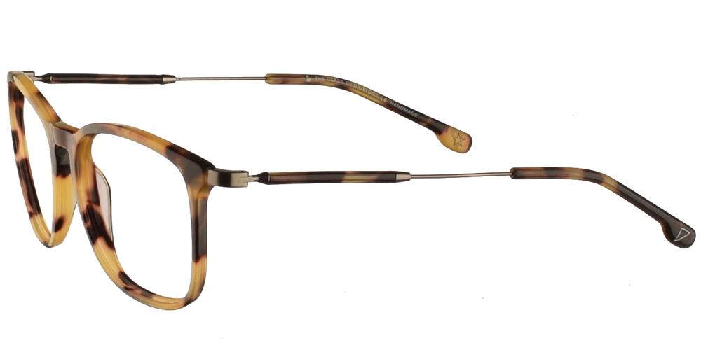 Γυναικεία κοκάλινα τετράγωνα γυαλιά οράσεως Brixton Dusk BF0099 C1 σε καφέ ταρταρούγαγια όλα τα πρόσωπα.