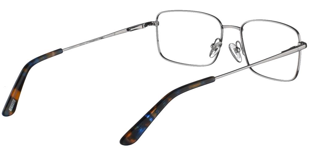 Τετράγωνα μεταλλικά ανδρικά και γυναικεία γυαλιά οράσεως Invu B3009 B σε ασημί σκελετόγια μεσαία και μεγάλα πρόσωπα.