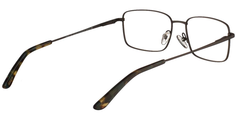 Τετράγωνα μεταλλικά ανδρικά και γυναικεία γυαλιά οράσεως Invu B3009 A σε μαύρο ματ σκελετόγια μεσαία και μεγάλα πρόσωπα.