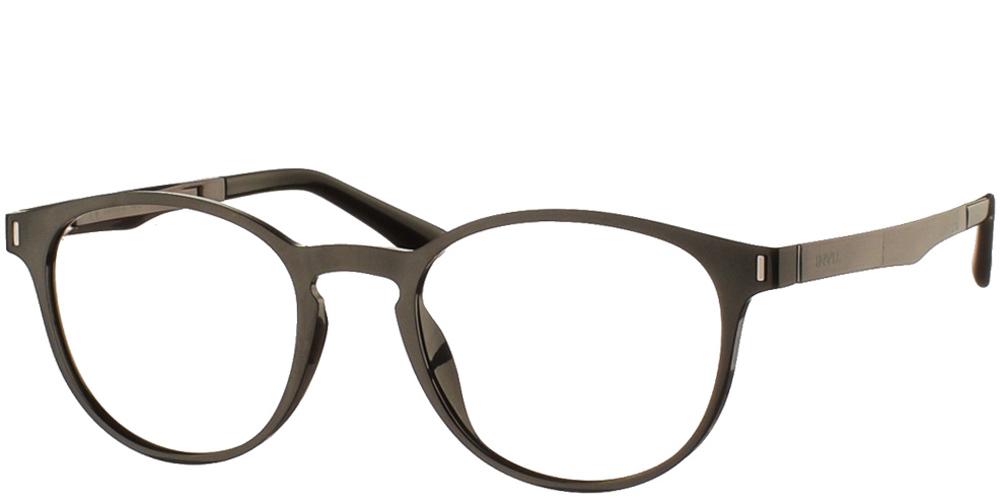 Στρογγυλά κοκάλινα ανδρικά και γυναικεία γυαλιά οράσεως Invu B4000 A με μαύρο σκελετόγια μικρά και μεσαία πρόσωπα.