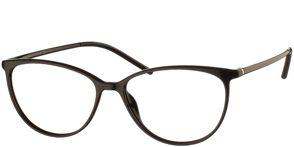 Γυναικεία κοκάλινα γυαλιά οράσεως Invu G4012 A Clip On σε μαύρο σκελετό με αποσπώμενο clip on με φακό polarized καφέ ντεγκραντέ για μικρά και μεσαία πρόσωπα.