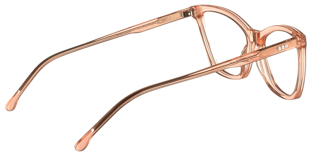 Γυναικεία κοκάλινα σε σχήμα πεταλούδα γυαλιά οράσεως Komono Alexa Mild Pink σε ανοιχτόχρωμο ροζ χρώμαγια μικρά και μεσαία πρόσωπα.
