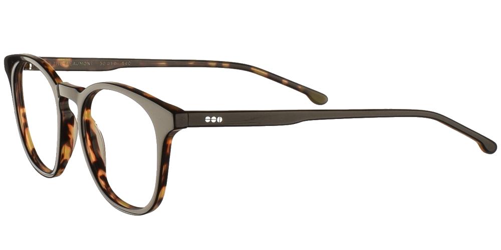 Τετράγωνα κοκάλινα ανδρικά και γυναικεία γυαλιά οράσεως Komono Beaumont Black Tortoise σε καφέ ταρταρούγαγια όλα τα πρόσωπα.