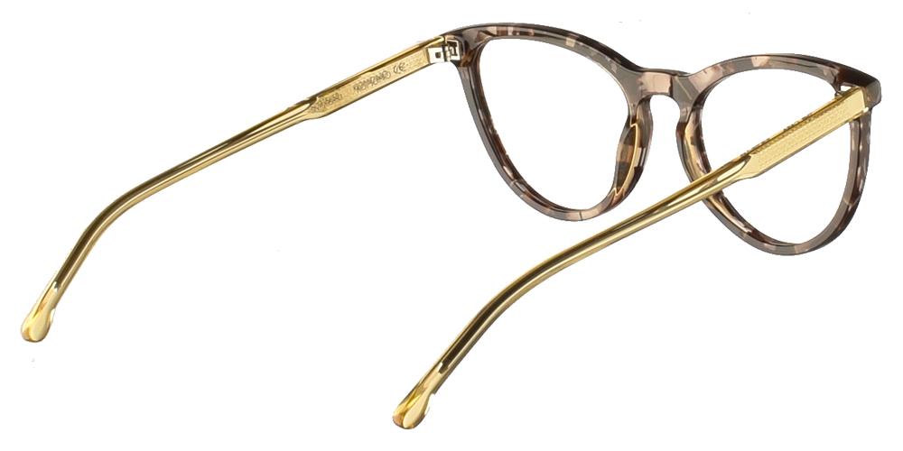 Γυναικεία κοκάλινα γυαλιά οράσεως σε σχήμα πεταλούδα Komono Cara Safari σε πολύχρωμο σκελετόγια όλα τα πρόσωπα.