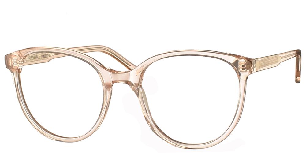 Γυναικεία κοκάλινα γυαλιά οράσεως Komono Gina Champagne με εφέ μαρμάρου σε ασπρόμαυρες αποχρώσειςγια μεσαία και μεγάλα πρόσωπα.