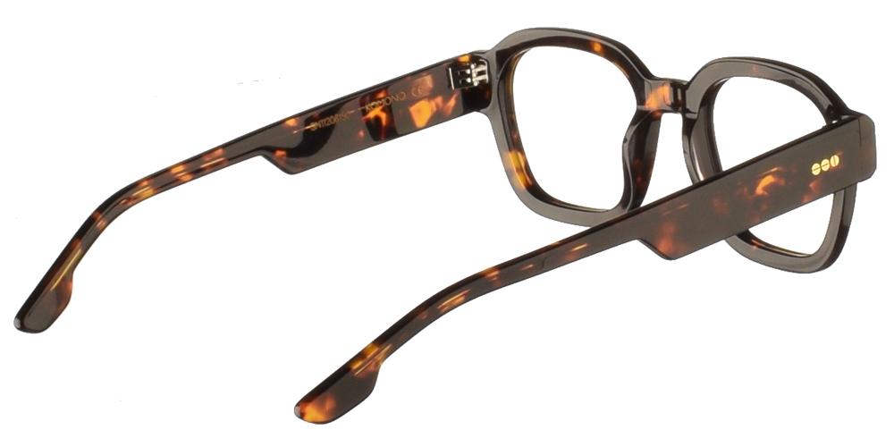 Κοκάλινα ανδρικά και γυναικεία γυαλιά οράσεως Komono Jeff Tortoise σε καφέ ταρταρούγαγια μικρά και μεσαία πρόσωπα.