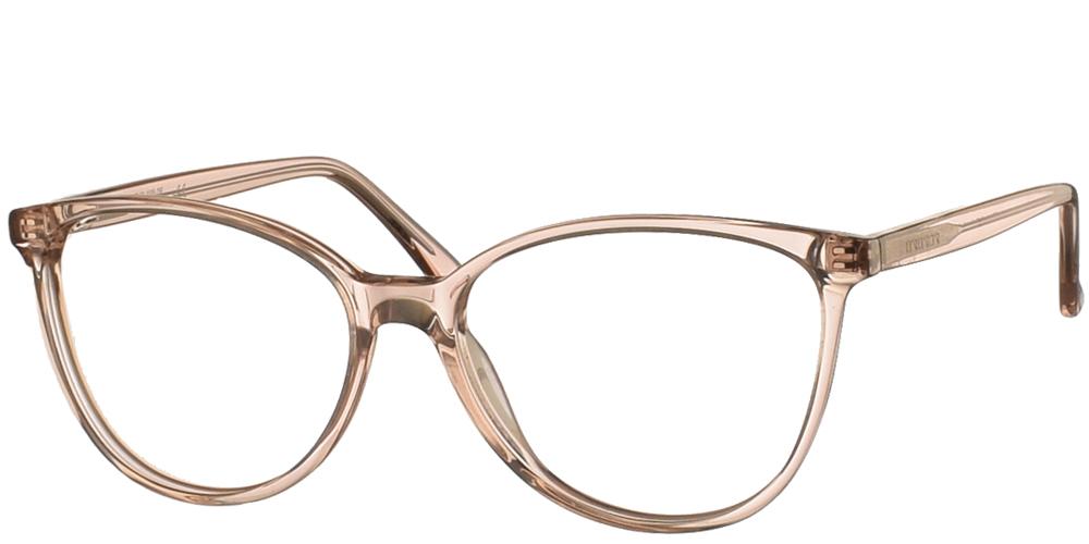 Γυναικεία κοκάλινα σε σχήμα πεταλούδα γυαλιά οράσεως Brixton BF 144 01 σε ανοιχτόχρωμο απαλό σαμπανιζέ σκελετόγια όλα τα πρόσωπα.