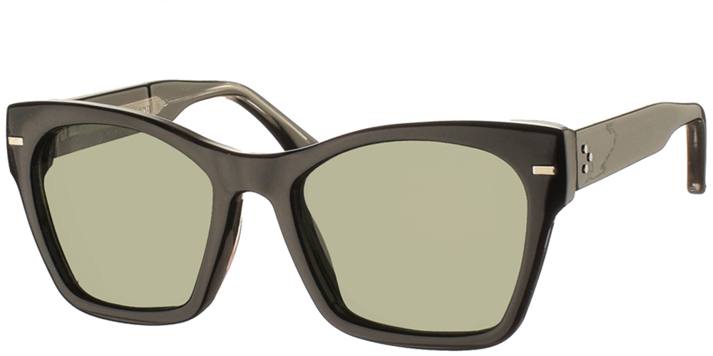 Women's acetate sunglasses Coco in black frame and dark green lenses by Spitfire best for all sized faces.