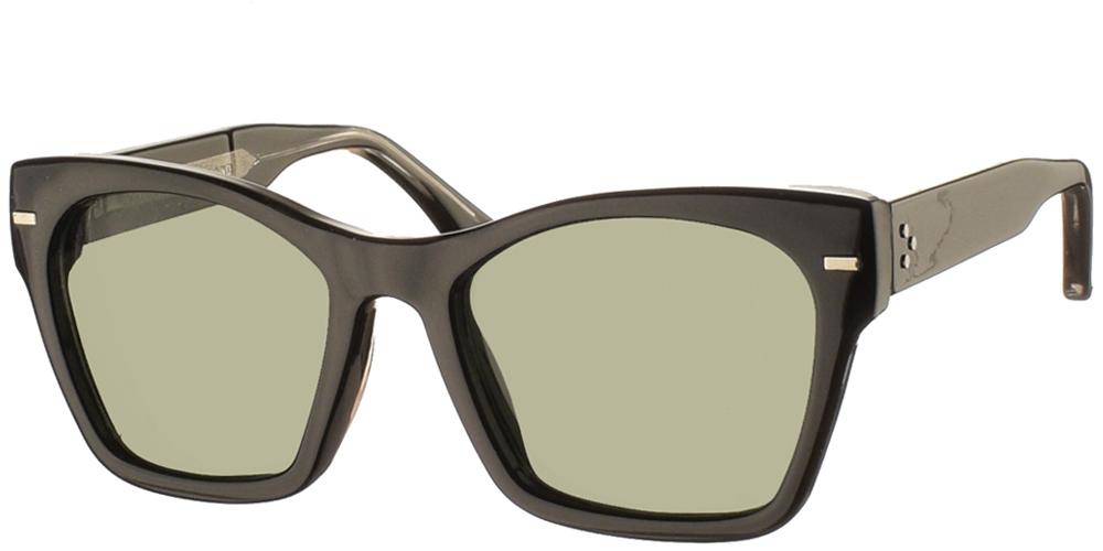 Γυναικεία κοκάλινα γυαλιά ηλίου πεταλούδα Coco σε μαύρο σκελετό με σκούρους πράσινους φακούς της εταιρίας Spitfire για όλα τα πρόσωπα.