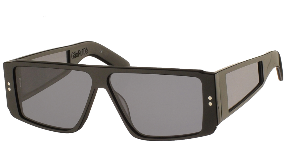 Unisex κοκάλινα γυαλιά ηλίου Gaoruide σε μαύρο χρώμα και επίπεδους γκρι φακούς της εταιρίας Spitfireγια μεσαία και μεγάλα πρόσωπα.