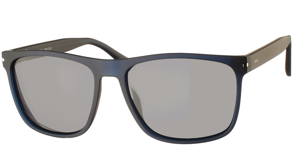 Διαχρονικά κοκάλινα ανδρικά γυαλιά ηλίου B2025 σε ματ μπλε σκελετό με γκρι polarized φακούς της εταιρίας Invuγια μεσαία και μεγάλα πρόσωπα.