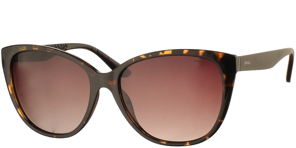 Women's acetate sunglasses B2043 in brown tortoise and brown gradient polarized lenses by Invubest for all sized faces.